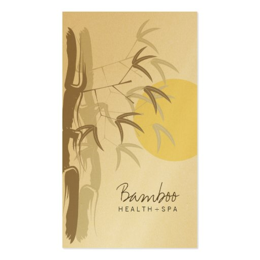 tarjeta de bambú del perfil del zen de la salida tarjetas de visita