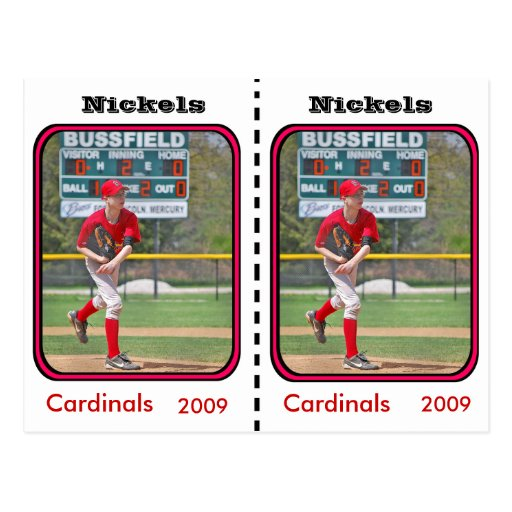 Tarjeta de béisbol adaptable postales