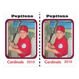 Tarjeta de béisbol adaptable postal