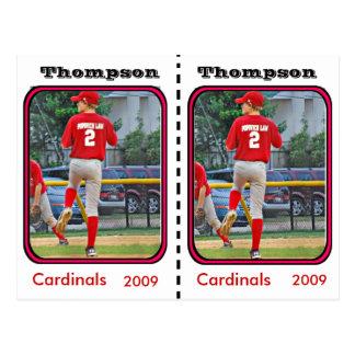 Tarjeta de béisbol adaptable tarjetas postales