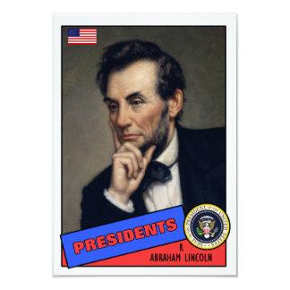 "Tarjeta de béisbol de Abraham Lincoln Invitación 3.5"" X 5"""