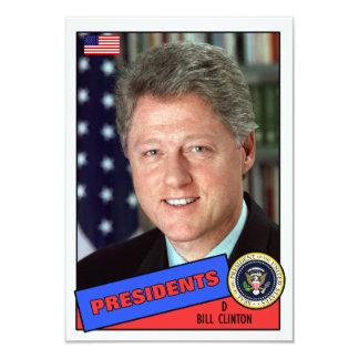 """Tarjeta de béisbol de Bill Clinton Invitación 3.5"""" X 5"""""""