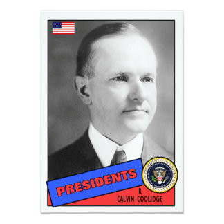 "Tarjeta de béisbol de Calvin Coolidge Invitación 3.5"" X 5"""