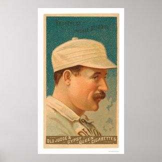 Tarjeta de béisbol de Dan Brouthers 1888 Poster