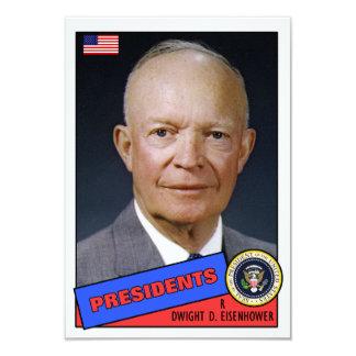 "Tarjeta de béisbol de Dwight D. Eisenhower Invitación 3.5"" X 5"""