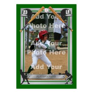 Tarjeta de béisbol de encargo de lujo tarjeta de visita