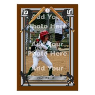 Tarjeta de béisbol de encargo de lujo plantilla de tarjeta de negocio