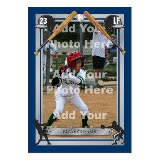 Tarjeta de béisbol de encargo de lujo plantilla de tarjeta de visita
