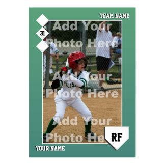 Tarjeta de béisbol de encargo plantilla de tarjeta de negocio