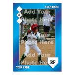 Tarjeta de béisbol de encargo plantillas de tarjetas personales