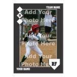 Tarjeta de béisbol de encargo plantillas de tarjeta de negocio