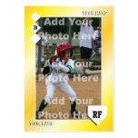 Tarjeta de béisbol de encargo tarjetas personales