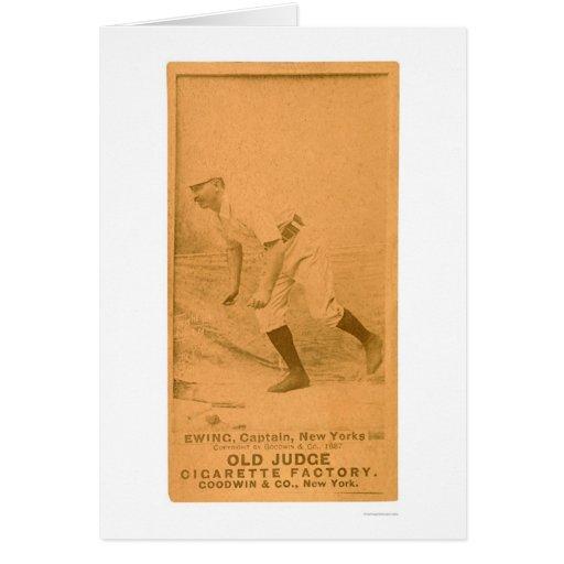 Tarjeta de béisbol de Ewing del dólar 1887