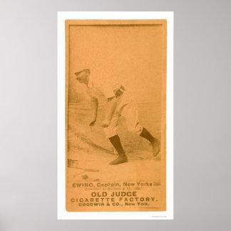 Tarjeta de béisbol de Ewing del dólar 1887 Posters