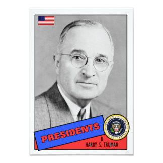 Tarjeta de béisbol de Harry S. Truman Comunicado