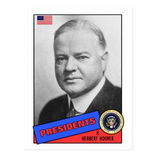 Tarjeta de béisbol de Herbert Hoover Postal