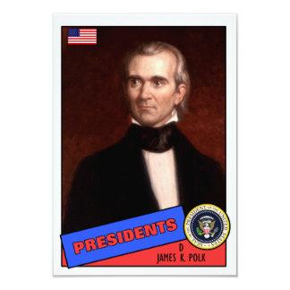 "Tarjeta de béisbol de James K. Polk Invitación 3.5"" X 5"""