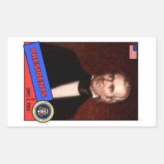 Tarjeta de béisbol de James K. Polk Rectangular Altavoz