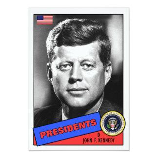 "Tarjeta de béisbol de John F. Kennedy Invitación 3.5"" X 5"""