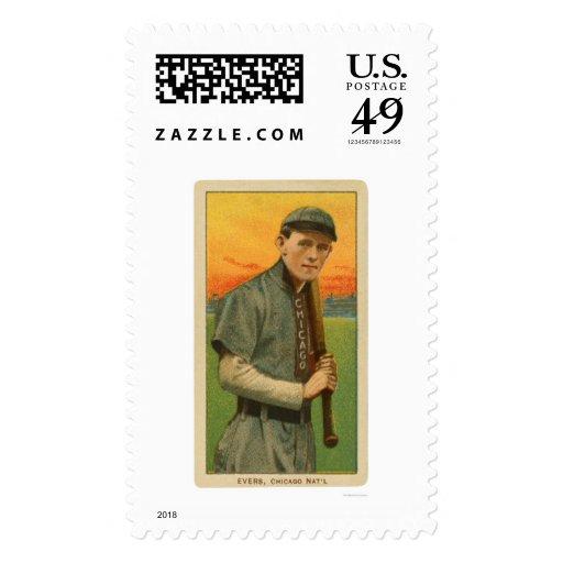 Tarjeta de béisbol de Johnny Evers 1911 Franqueo