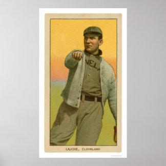 Tarjeta de béisbol de Lajoie de la siesta 1909 Impresiones
