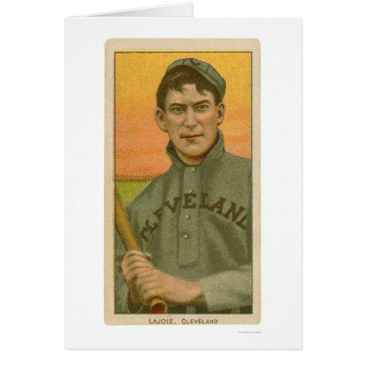 Tarjeta de béisbol de Lajoie de la siesta 1910