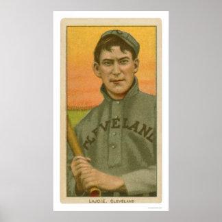 Tarjeta de béisbol de Lajoie de la siesta 1910 Póster