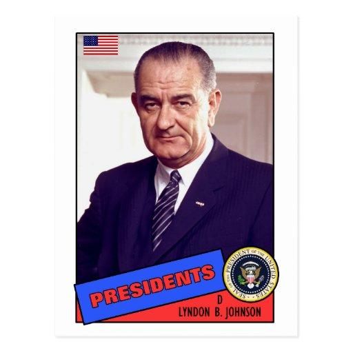 Tarjeta de béisbol de Lyndon B. Johnson Tarjeta Postal