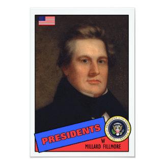 """Tarjeta de béisbol de Millard Fillmore Invitación 3.5"""" X 5"""""""