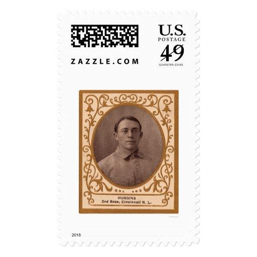 Tarjeta de béisbol de Miller Huggins 1909 Franqueo