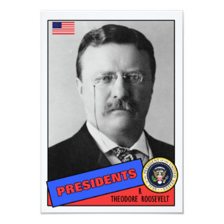 """Tarjeta de béisbol de Theodore Teddy Roosevelt Invitación 3.5"""" X 5"""""""