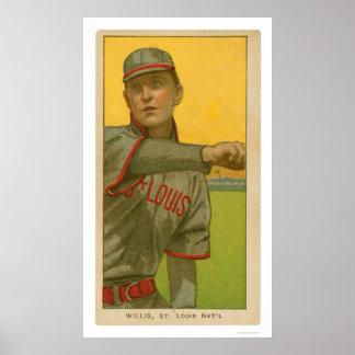 Tarjeta de béisbol de Vic Willis 1911 Impresiones