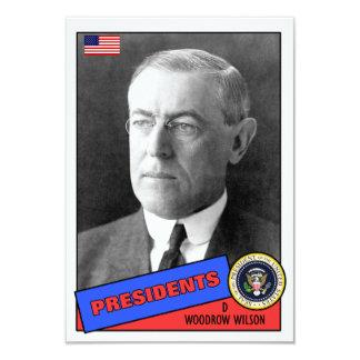 "Tarjeta de béisbol de Woodrow Wilson Invitación 3.5"" X 5"""