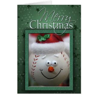 Tarjeta de béisbol del navidad