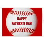Tarjeta de béisbol feliz del día de padre