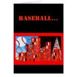 Tarjeta de béisbol negra y anaranjada fresca de la