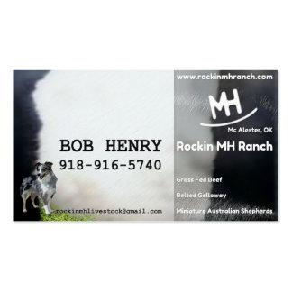 Tarjeta de Bob Henry Tarjetas De Visita