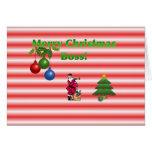 Tarjeta de Boss de las Felices Navidad