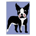 Tarjeta de Boston Terrier del dibujo animado