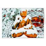tarjeta de Buda de la nieve