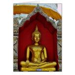 Tarjeta de Buda del oro