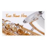 Tarjeta de Budiness del saxofón Tarjetas De Visita