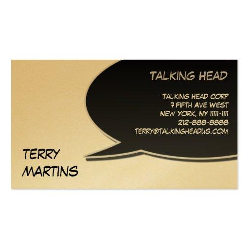 Tarjeta de burbuja del discurso plantilla de tarjeta personal
