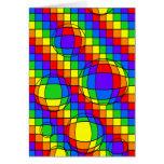 Tarjeta de burbujas del arco iris