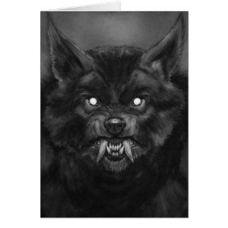 Tarjeta de cara del hombre lobo