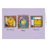 tarjeta de cara feliz de los grandes artistas