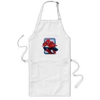Tarjeta de carácter de Spider-Man Delantal Largo