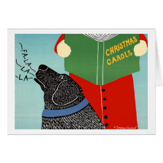 Tarjeta de Caroling del navidad - Stephen Huneck