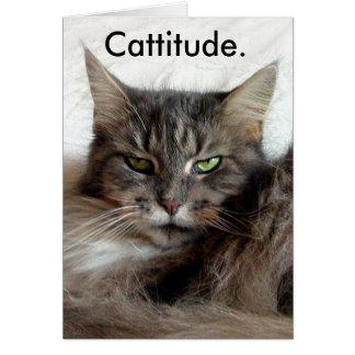 Tarjeta de Cattitude