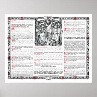 Tarjeta de centro del altar posters
